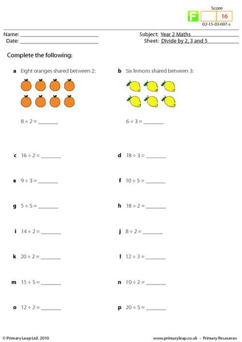 division worksheets dividing by 2 divide by 2 3 and 5 mixed primaryleap co uk