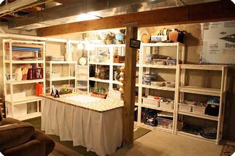Basement Craft Room Craft Room Pinterest, Basement Craft