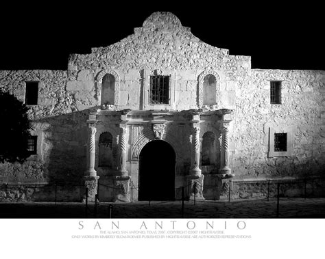 Alamo-san Antonio, Texas-b&w Art Photo-coa-signed!