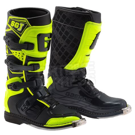 infant motocross boots gaerne sgj youth kids boots black fluo yellow