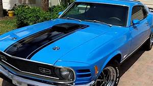 70 Mach1 351c Grabber Blue 001 - YouTube