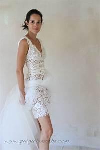 robe de mariee en dentelle de calais romantique courte et With robe de mariée vintage romantique