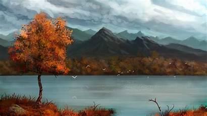 Fall Mountain Desktop Autumn Mountains Backgrounds Forest