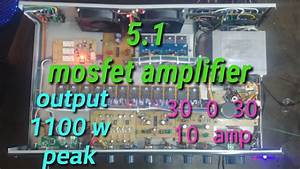 5 1 Amplifier  Mosfet Manual Type  Mid Range