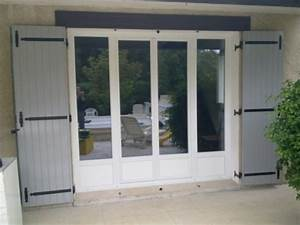 Porte fenetre 4 vantaux dont 2 fixes for Porte d entrée pvc en utilisant fenetre mesure