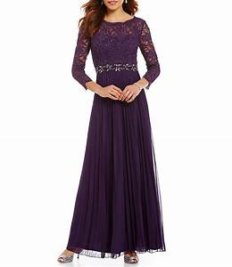 cachet beaded lace bodice gown dillards With cachet evening dresses