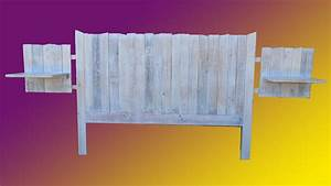 Faire Une Tête De Lit En Bois : faire une tete de lit en bois de palette youtube ~ Teatrodelosmanantiales.com Idées de Décoration