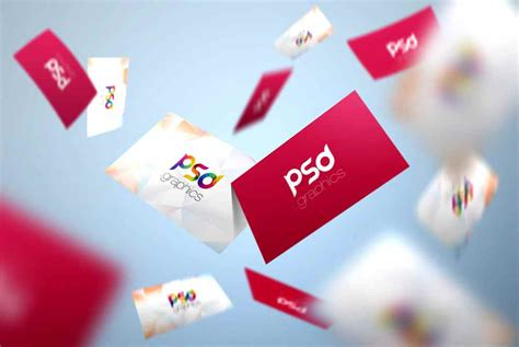 Flying Business Card Mockup Free Psd Business Card Ideas For Crafters Holder Wall Mounted Display Qatar Ebay Tagline Examples Vistaprint Size In Pixels Dimension Photoshop Stainless Steel