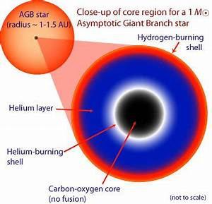 Structure of a hydrogen shell burning star: