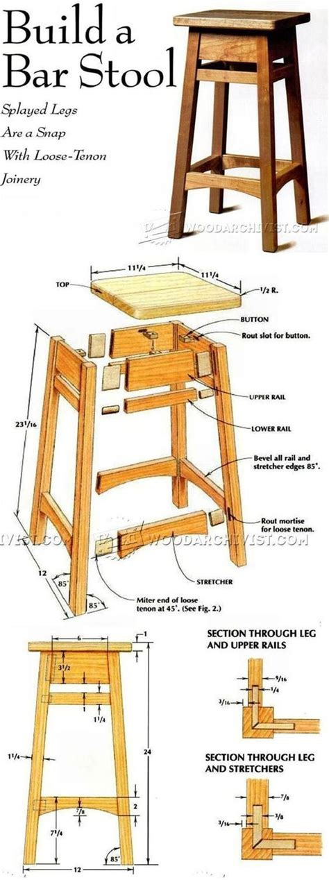 diy bar stool furniture plans  projects