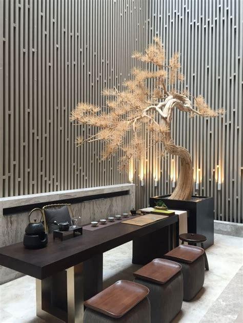 chinese modern interior tea decor architecture restaurant contemporary room asian furniture oriental dekor hotel touch wall inspirationen lobby uploaded user