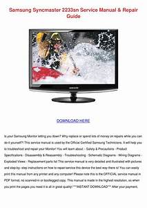 Samsung Syncmaster 2233sn Service Manual Repa By