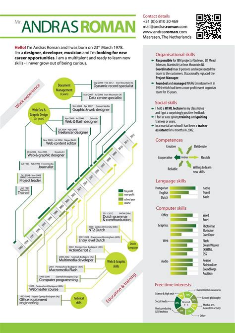 Visual Resume Sles by Top Infographic Resume Andras Visual Resume 2012