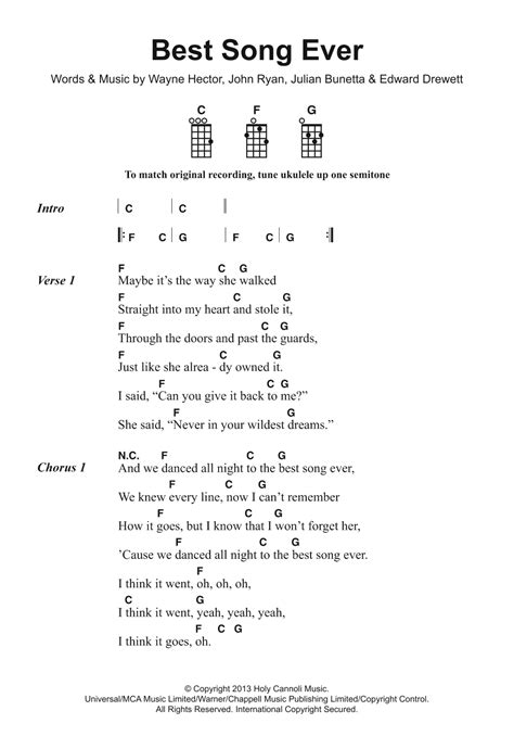 The best way to learn guitar is learn the songs you love. Best Song Ever Sheet Music   One Direction   Piano, Vocal & Guitar