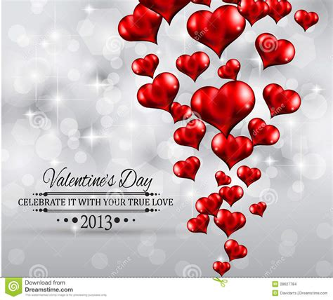 valentines day party invitation flyer background stock