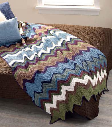 assorted chevron blanket crochet pattern