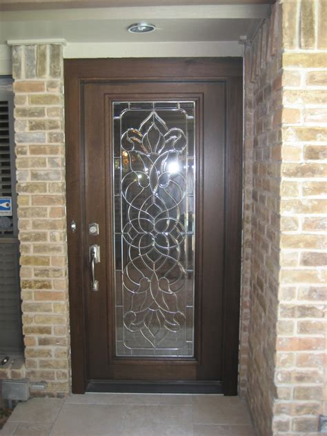 decorative glass wood door gallery  front door company