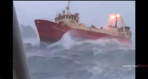 footage  ships navigating storms