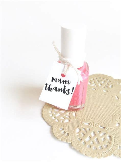 thanks nail polish favor tags polish by printsmitten favors pinterest nail