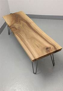 sold live edge walnut coffee table on hairpin legs With live edge coffee table hairpin legs