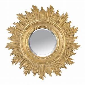 Miroir Doré Rond : miroir rond en r sine soleil dor ~ Teatrodelosmanantiales.com Idées de Décoration