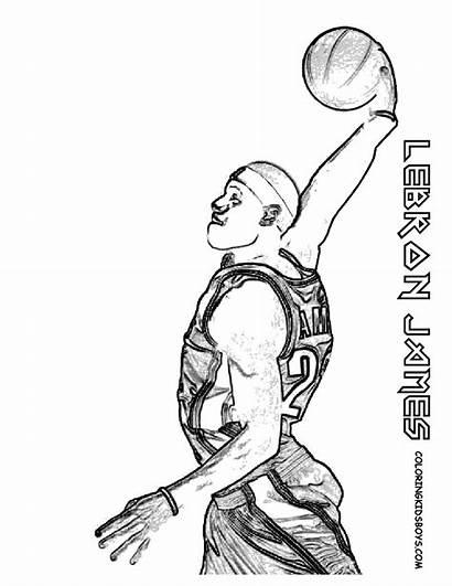 Basketball Coloring Lebron James Boss Players Colouring
