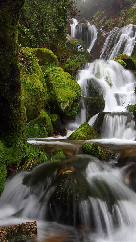 waterfall photography nature cellphone water wallpaper