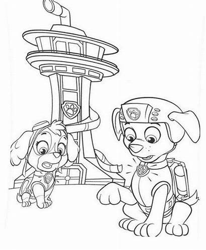 Paw Patrol Coloring Chase Printable Sky Canina