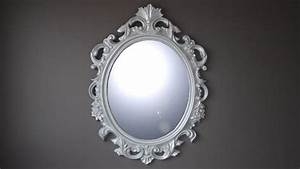 Miroir Baroque Argenté : espejo oval estilo barroco color plateado calinka ~ Teatrodelosmanantiales.com Idées de Décoration