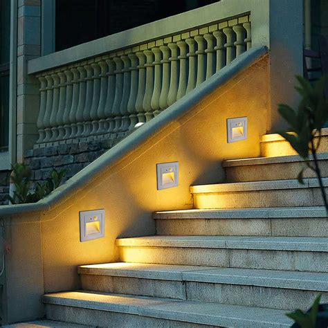 Indoor Stair Lights by Motion Sensor Led Stair Step Lights Indoor Embedded Wall