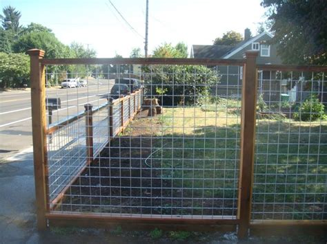 Wood And Galvanized Mesh Fence