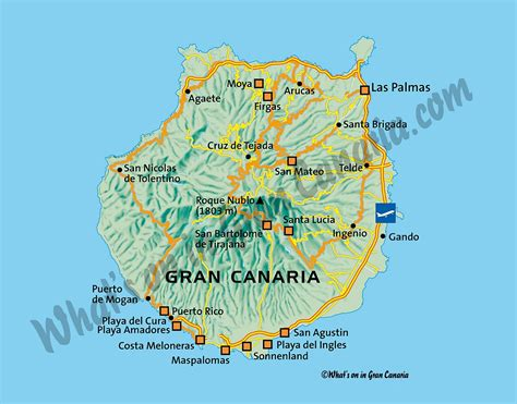 map  gran canaria