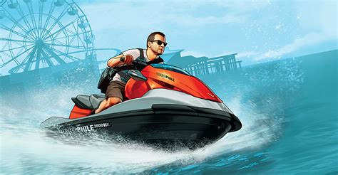 Water Scooter Game by Wallpaper Gta 5 Grand Theft Auto Water Scooter Men Michael
