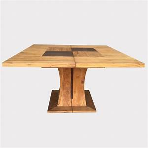 table salle manger carree avec pied central With table salle a manger design pied central