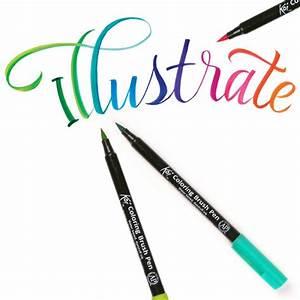 koi colouring brush pens ken bromley art supplies With koi brush pen lettering