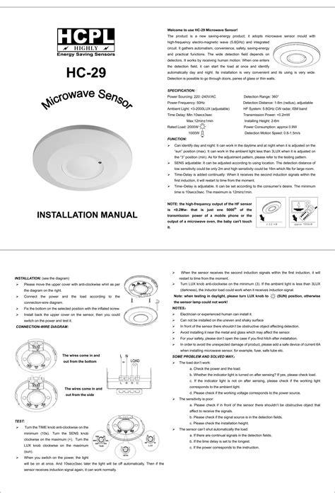 microwave motion sensor saving energy sensors india