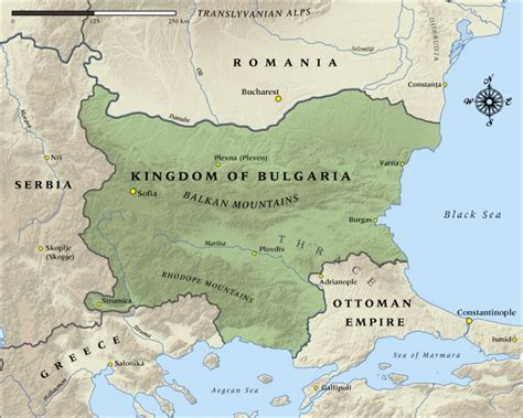 Ottoman Kingdom by Map Of The Kingdom Of Bulgaria In 1915 Nzhistory New