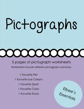 pictograph worksheets  elbees essentials teachers pay