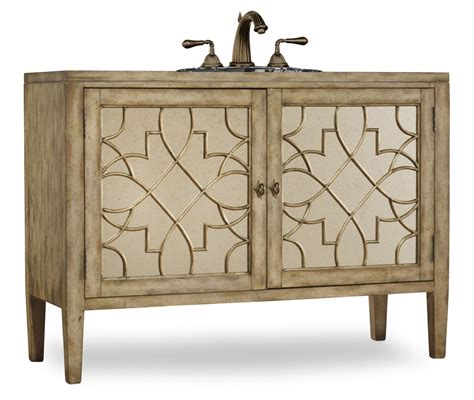 52 inch single sink bathroom vanity in antiqued parchment