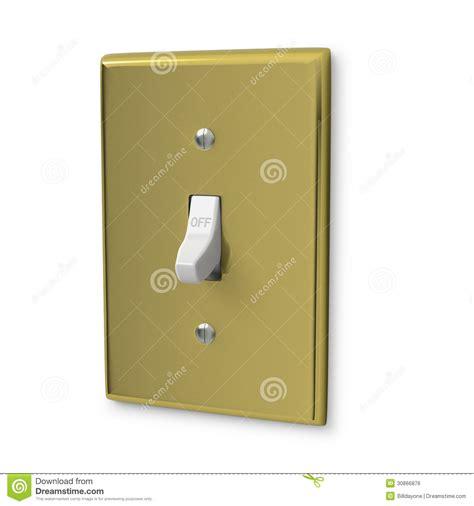 bronze wall light switch royalty free stock image image