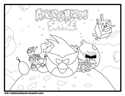 Angry Birds Kleurplaten Space by Space Angry Birds Coloring Pages Free Printable Coloring