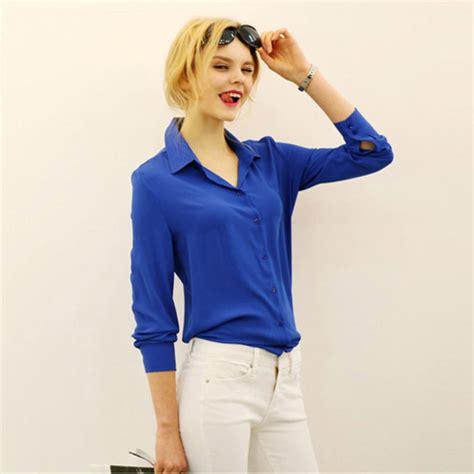 blue blouse sleeve royal blue blouse silk blouses