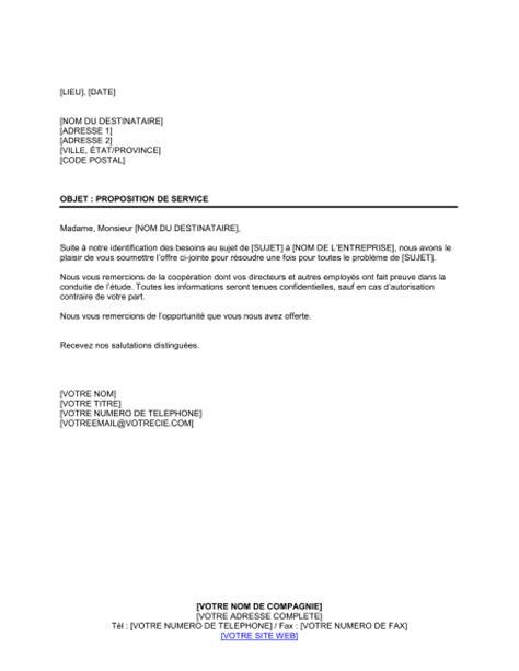 lettre de proposition de service template sample form
