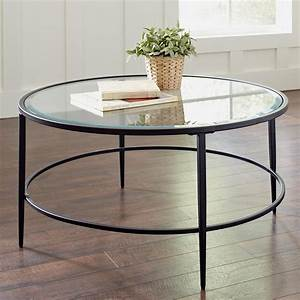 Circle coffee table significant element of the for Circular glass top coffee table