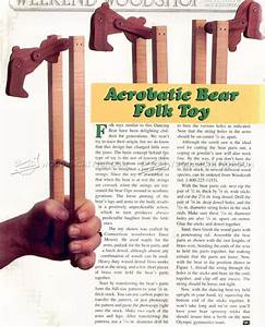 Acrobatic Bear Folk Toy Plans • WoodArchivist