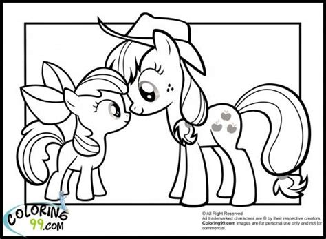 My Little Pony Apple Bloom And Applejack Coloring Pages