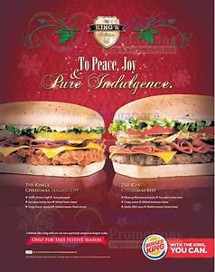 Burger King New Christmas Chicken/Beef Burgers 29 Nov 2012