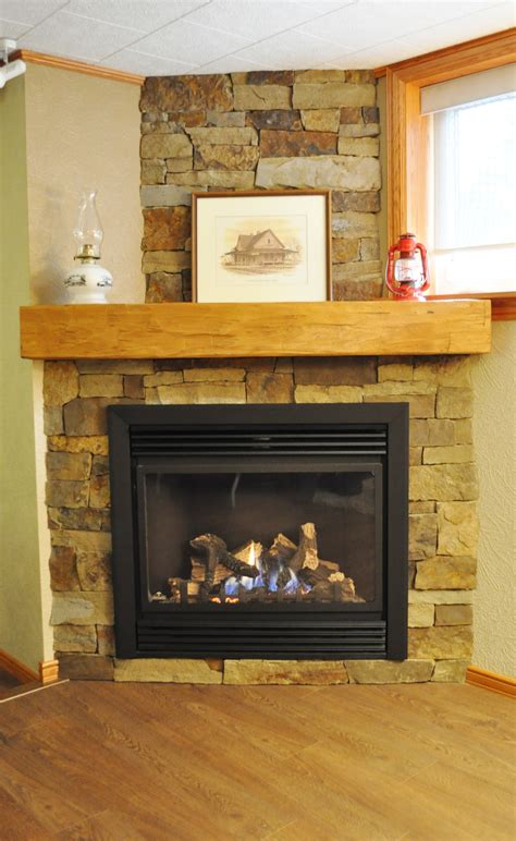 Amazing Gas Fireplace With Stone Surround Pictures Design