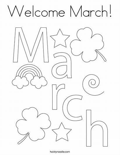 Coloring March Month Welcome Ll Twistynoodle Built