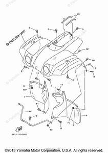 Yamaha Atv 2004 Oem Parts Diagram For Front Fender